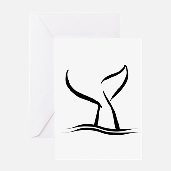 Whale Tail Greeting Cards