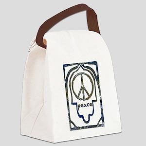 Hamsa Peace Canvas Lunch Bag