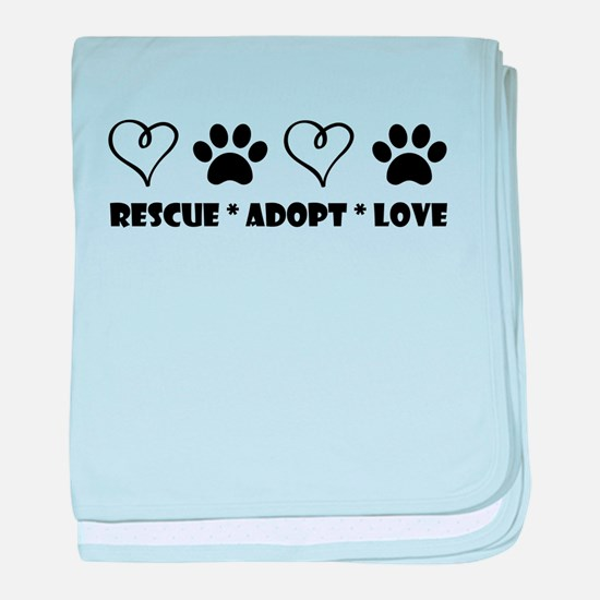 Adopt shelter dog baby blanket