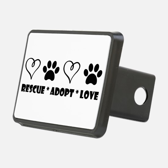 Funny Adopt a shelter pet Hitch Cover