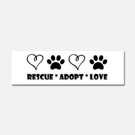 Cool Adopt a shelter pet Car Magnet 10 x 3