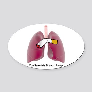 You Take My Breath Away Oval Car Magnet
