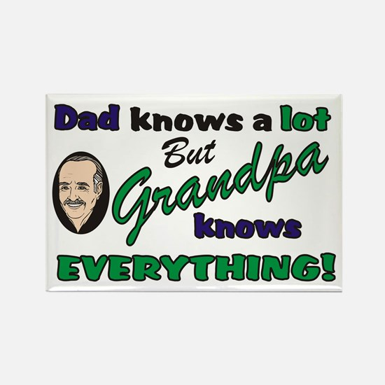 Grandpa Knows Everything Rectangle Magnet (10 pack