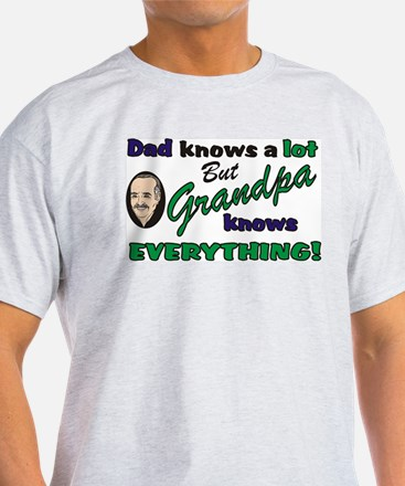 Grandpa Knows Everything Ash Grey T-Shirt