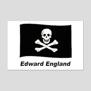 Pirate Flag - Edward England Mini Poster Print