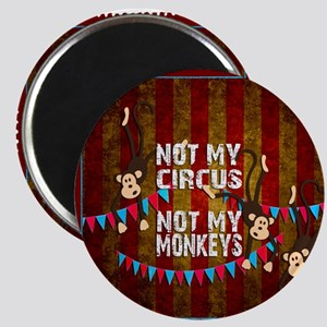 Not My Circus Monkeys Stamp Magnets