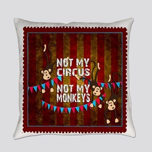 Not My Circus Monkeys Stamp Everyday Pillow