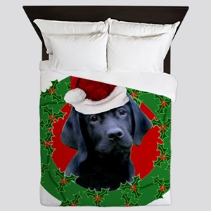 Christmas Labrador Retriever Queen Duvet