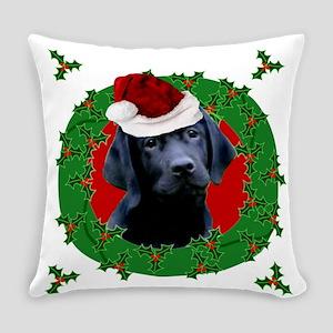 Christmas Labrador Retriever Everyday Pillow