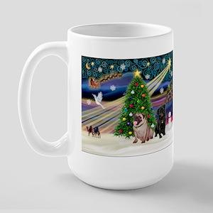 X Mas Magic & Pug Pair Large Mug