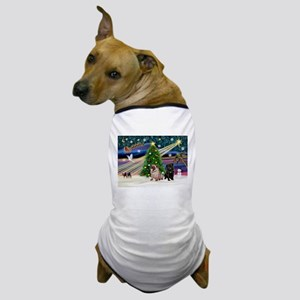 X Mas Magic & Pug Pair Dog T-Shirt