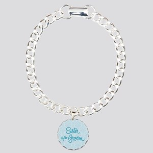 Sister of the Groom Charm Bracelet, One Charm