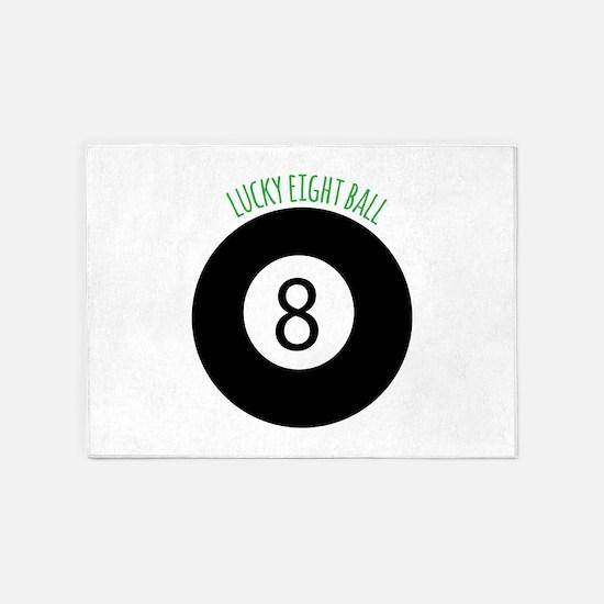 Lucky Eight Ball 5'x7'Area Rug