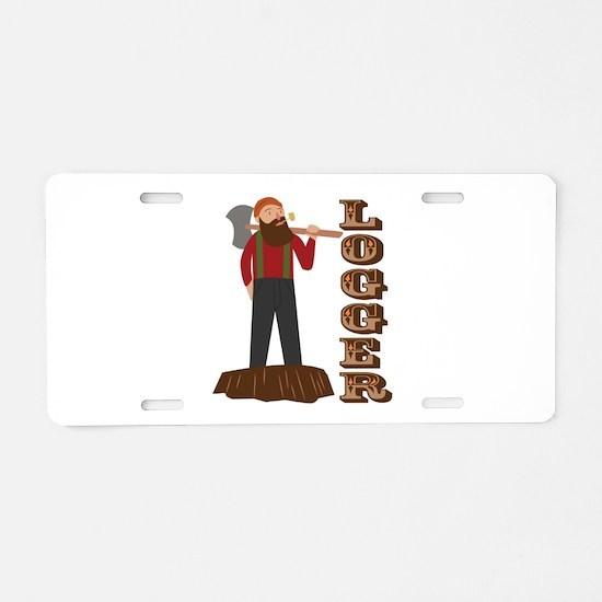 Logger Man Aluminum License Plate