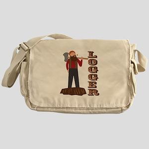 Logger Man Messenger Bag