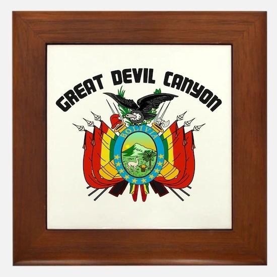 Great Devil Canyon Framed Tile