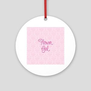 Flower Girl Round Ornament