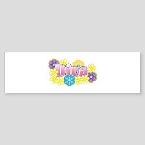 Diva Flowers Bumper Sticker