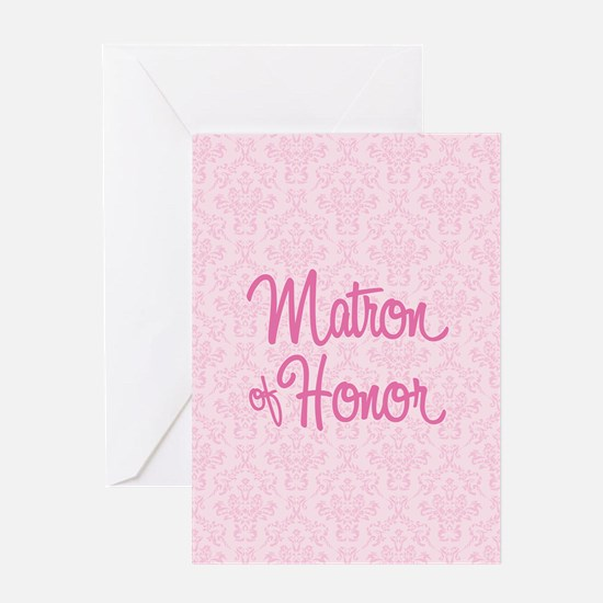 Matron of Honor Greeting Cards