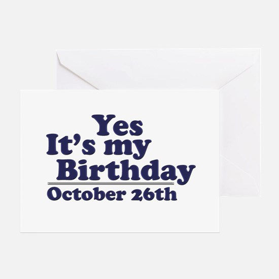 October 26th Birthday Greeting Card