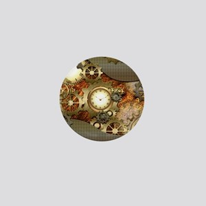 Steampunk, awesome steampunk design Mini Button