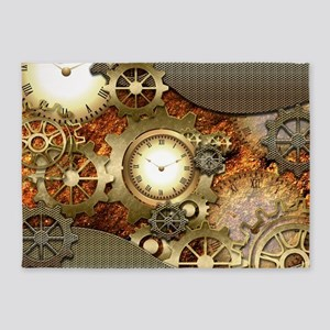 Steampunk, awesome steampunk design 5'x7'Area Rug