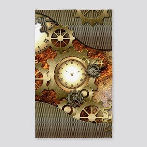 Steampunk, awesome steampunk design Area Rug
