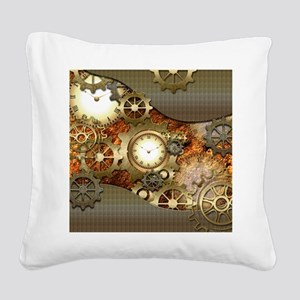 Steampunk, awesome steampunk design Square Canvas