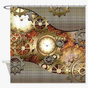 Steampunk, awesome steampunk design Shower Curtain