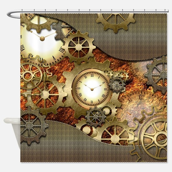 Steampunk, awesome steampunk design Shower Curtain