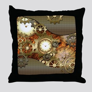 Steampunk, awesome steampunk design Throw Pillow