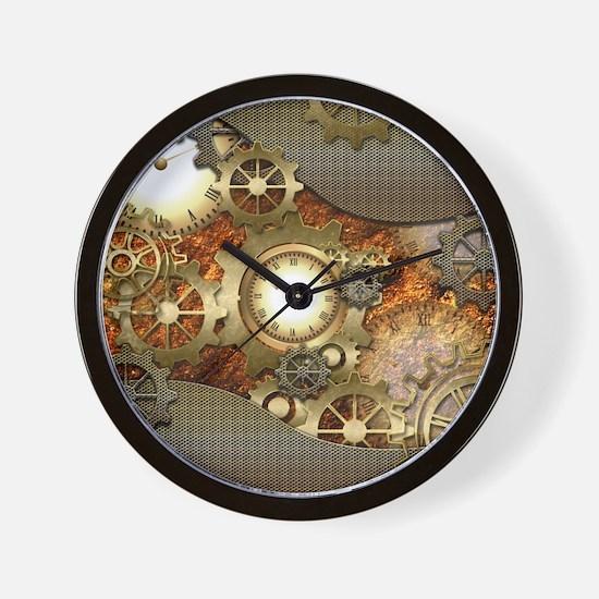 Steampunk, awesome steampunk design Wall Clock