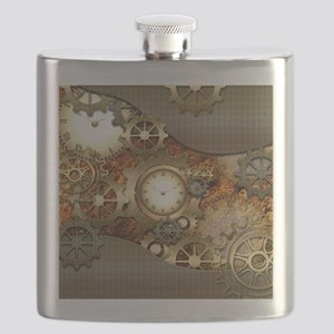 Steampunk, awesome steampunk design Flask