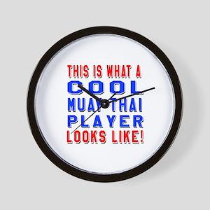 Muay Thai martial arts player looks lik Wall Clock
