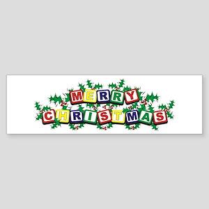 Christmas Blocks Bumper Sticker