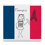 French Flag Tile Coaster