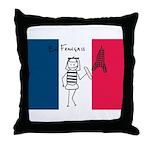 French Flag Throw Pillow