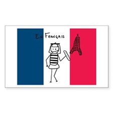 French Flag Rectangle Sticker