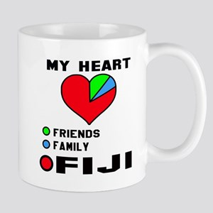My Heart Friends, Family and Fij 11 oz Ceramic Mug