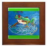 Lenz Tree Frog Framed Tile