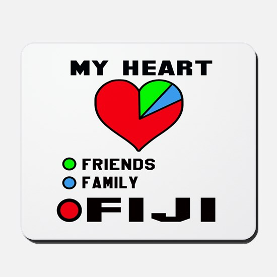 My Heart Friends, Family and Fiji Mousepad