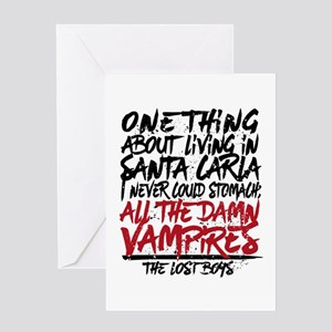 Lost Boys All The Damn Vampires Greeting Cards