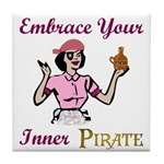 Inner Pirate Tile Coaster