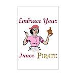 Inner Pirate Mini Poster Print