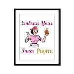 Inner Pirate Framed Panel Print