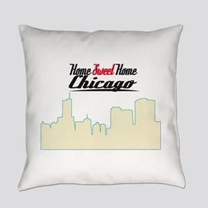 Home Sweet Home Chicago Everyday Pillow
