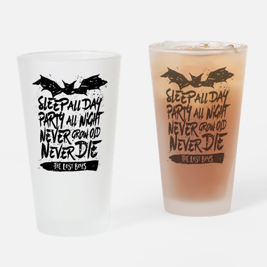Lost Boys Never Grow Old Drinking Glass