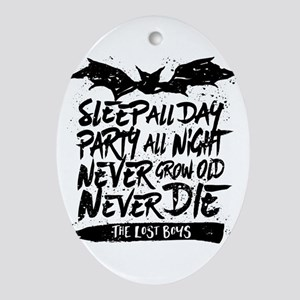 Lost Boys Never Grow Old Oval Ornament