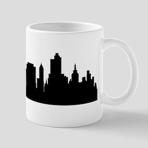 Tulsa Cityscape Skyline Mugs