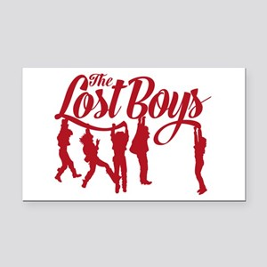 Lost Boys Hanging Off Bridge Rectangle Car Magnet
